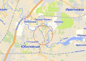 г. Королёв на карте