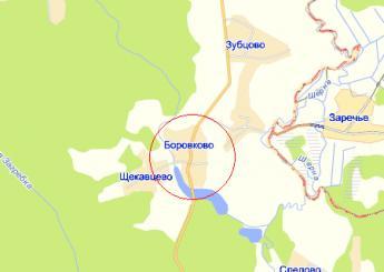 дер. Боровково на карте
