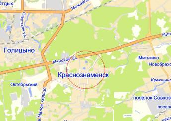 г. Краснознаменск на карте