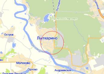 г. Лыткарино на карте