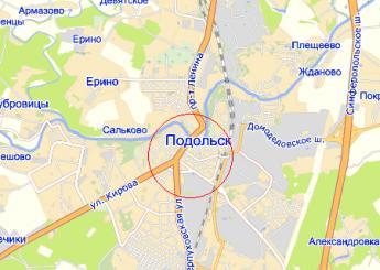 г. Подольск на карте