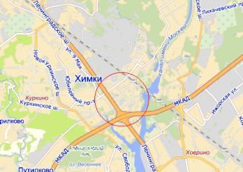 г. Химки на карте