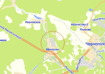 село Макарово на карте