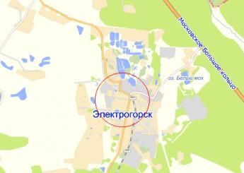 г. Электрогорск на карте