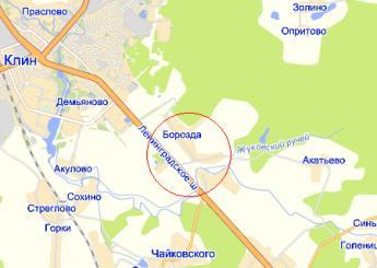 дер. Борозда на карте