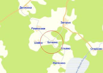 дер. Бочкино на карте