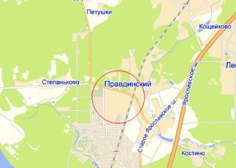 село Братовщина на карте