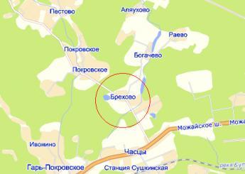 дер. Брехово на карте