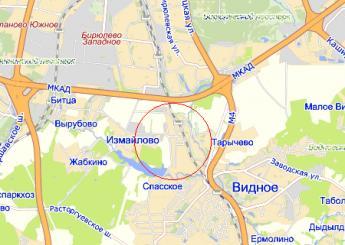 село Булатниково на карте