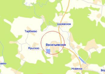 село Васильевское на карте