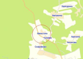 дер. Васютино на карте