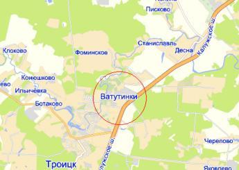 дер. Ватутинки на карте
