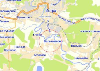 дер. Вельяминово на карте