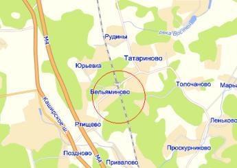 пос. Вельяминово на карте