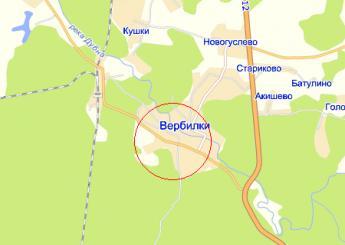 пос. Вербилки на карте
