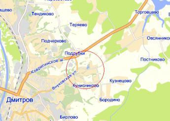 село Внуково на карте