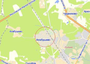 село Алабушево на карте